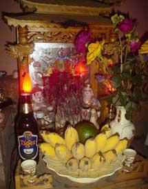 Budhist Beer Altar