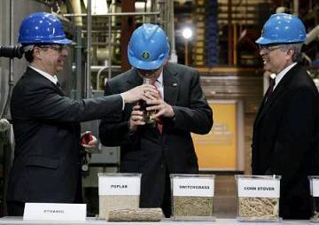 Bush sniffs ethanol
