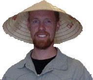 Chris rice paddy hat