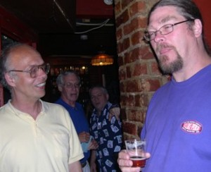 Pike Brewmaster Drew Clulely at a Brickskeller Beer Tasting a couple years ago.