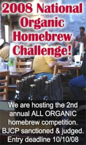 2008 National Organic Homebrew Challenge