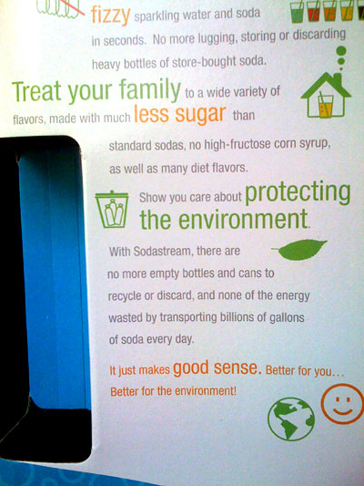 "the Sodastream packaging says ""no high fructose corn syrup"" but the first ingredient in their orange soda syrup is ""sucrose and/or high fructose corn syrup."""
