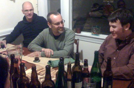 Richard, co-conspirator; Tom, Select Wines; Matt, Flyng Dog